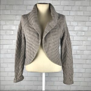 Vince Chunky Cable Knit Shrug Cardigan Sweater